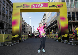 Cheryl Baker during the 2019 London Landmarks Half Marathon.