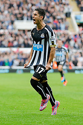 Ayoze Perez of Newcastle United celebrates scoring a goal to make it 1-0 - Photo mandatory by-line: Rogan Thomson/JMP - 07966 386802 -01/11/2014 - SPORT - FOOTBALL - Newcastle, England - St James' Park - Newcastle United v Liverpool - Barclays Premier League.