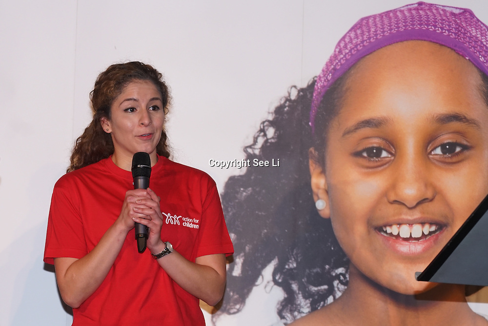 London, UK. 7th October, 2016. Volunteer of the London Independent Visitors talks of their experience giving support and a ear to listen at Byte Night 2016 - Action for Children to tackle youth homelessness in London at Norton Rose Fulbright, 3 More London Riverside, London, UK. Photo by See Li
