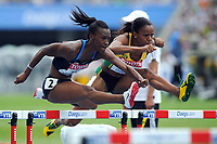 ATHLETICS - IAAF WORLD CHAMPIONSHIPS 2011 - DAEGU (KOR) - DAY 7 - 02/09/2011 - 100M HURDLES - KELLIE WELLS (USA) - VONETTE DIXON (JAM) - PHOTO : FRANCK FAUGERE / KMSP / DPPI