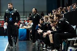 Uros Bregar head coach of RK Krim Mercator during handball match between RK Krim Mercator and Brest Bretagne Handball in 2nd main round of Women's DELO EHF Champions League 2019/20, on February 2, 2020 in Kodeljevo, Ljubljana,  Slovenia. Photo Grega Valancic / Sportida