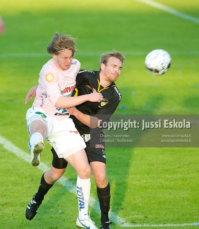 Samu Nieminen, Jussi Vasara. Honka - JJK. Veikkausliiga. Espoo 22.4.2012. Photo: Jussi Eskola