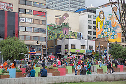 Graffitis und Street Art in Bogota / 230916<br /> <br /> ***         <br /> <br /> Street art and sprayed slogans in the Colombian capital Bogota, Colombia, September 23, 2016 ***