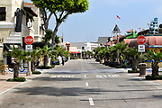 Main Street at Balboa Peninsula looking from the Pier Towards the Pavilion