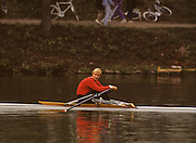 Bled, Slovenia, YUGOSLAVIA. RUS M1X, Jueri JAANSON,  1989 World Rowing Championships, Lake Bled. [Mandatory Credit. Peter Spurrier/Intersport Images]