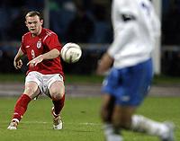 Fotball<br /> VM-kvalifisering<br /> Azerbaijan / Aserbaijan v England<br /> 13.10.2004<br /> Foto: BPI/Digitalsport<br /> NORWAY ONLY<br /> <br /> 13/10/2004 Azerbaijan v England, World Cup Qualifier, Tofiq Berhamov Stadium<br /> <br /> Wayne Rooney