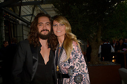 Tom Kaulitz, Heidi Klum attending the amfAR Couture Cocktail and Dinner Party at Peninsula Hotel on June 30, 2019 in Paris, France. Photo by Julien Reynaud/APS-Medias/ABACAPRESS.COM