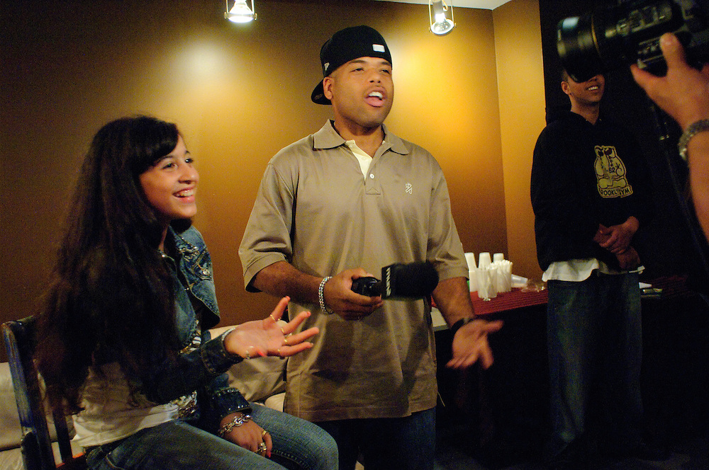 NEW YORK, NY - OCTOBER 11: American hip hop sensation Priscilla Star Diaz aka P-Star performs and is interviewed at SOB's in a behind the scenes still from the award winning documentary, P-Star Rising on October 11, 2006 in New York, New York. (PHOTO CREDIT: Eric M. Townsend)