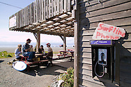 Jordan River is a famous surf spot on Vancouver Island and attracts locals to Shakies for milkshakes and other fast food.