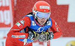 29.12.2014, Hohe Mut, Kühtai, AUT, FIS Ski Weltcup, Kühtai, Slalom, Damen, 2. Durchgang, im Bild Federica Brignone (ITA) // Federica Brignone of Italy reacts after 2nd run of Ladies Giant Slalom of the Kuehtai FIS Ski Alpine World Cup at the Hohe Mut Course in Kuehtai, Austria on 2014/12/29. EXPA Pictures © 2014, PhotoCredit: EXPA/ Erich Spiess