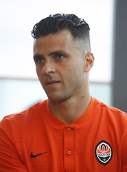 July 17, 2018 - Kiev, Ukraine - New Shakhtar Donetsk player Junior Moraes attends an official presentation in Kiev, Ukraine, 17 July, 2018. (Credit Image: © Str/NurPhoto via ZUMA Press)