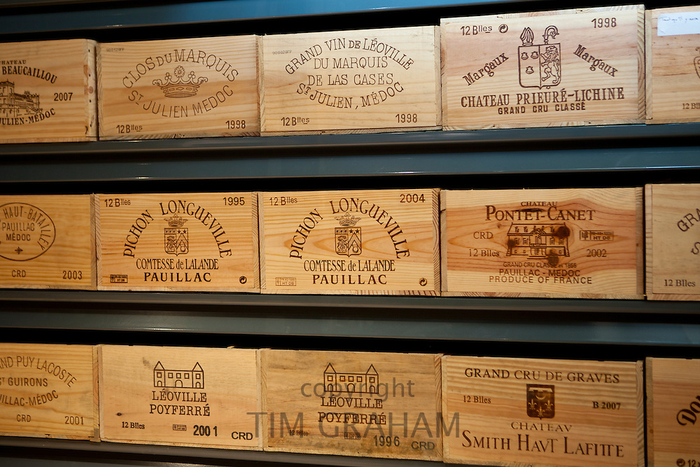 Fine wines Chateau Smith Haut Lafite, Leoville Poyferre, Clos du Marquis, Chateau Prieure-Lichine, Chateau Pontet-Canet, Pichon Longueville, at Vignobles et Chateaux wine merchant in St Emilion, Bordeaux, France