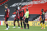 Football - 2020 / 2021 Sky Bet Championship - AFC Bournemouth vs. Stoke City - The Vitality Stadium<br /> <br /> Referee Mr David Webb shows a yellow card to Bournemouth's Philip Billing during the Championship match at the Vitality Stadium (Dean Court) Bournemouth <br /> <br /> COLORSPORT/SHAUN BOGGUST