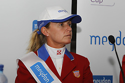 King Candice (USA)<br /> Press conference Meydan FEI Nationscup<br /> CHIO Rotterdam 2010<br /> © Dirk Caremans