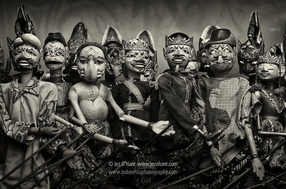 Wayang Golek, collection of Museum Sri Baduga, Bandung, Jawa Barat, Indonesia.