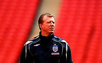 Photo: Alan Crowhurst.<br />England training session at Wembley Stadium. 21/03/2007. Steve McClaren watches on.