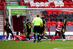 Madger Gomes of Doncaster Rovers scores a goal to make it 2-0 - Mandatory by-line: Robbie Stephenson/JMP - 26/09/2020 - FOOTBALL - The Keepmoat Stadium - Doncaster, England - Doncaster Rovers v Bristol Rovers - Sky Bet League One