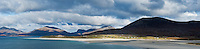 Scenic view towards Luskentyre beach, Isle of Harris, Outer Hebrides, Scotland