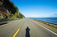 Scenic image of the Lewis & Clark Highway (Hwy 401) and the Columbia River, WA.