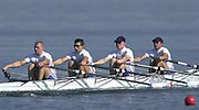 ©  Peter Spurrier Sports Photo<br /> email pictures@rowingpics.com<br /> tel +44 (0)7973 819551<br /> Photo Peter Spurrier<br /> 08/08/2002<br /> Sport - Rowing<br /> World Junior Rowing Championships GBR JM4X<br /> Bow Christopher Logan Matthew Tucker, Ashley Prestidge and Adam Robinson.