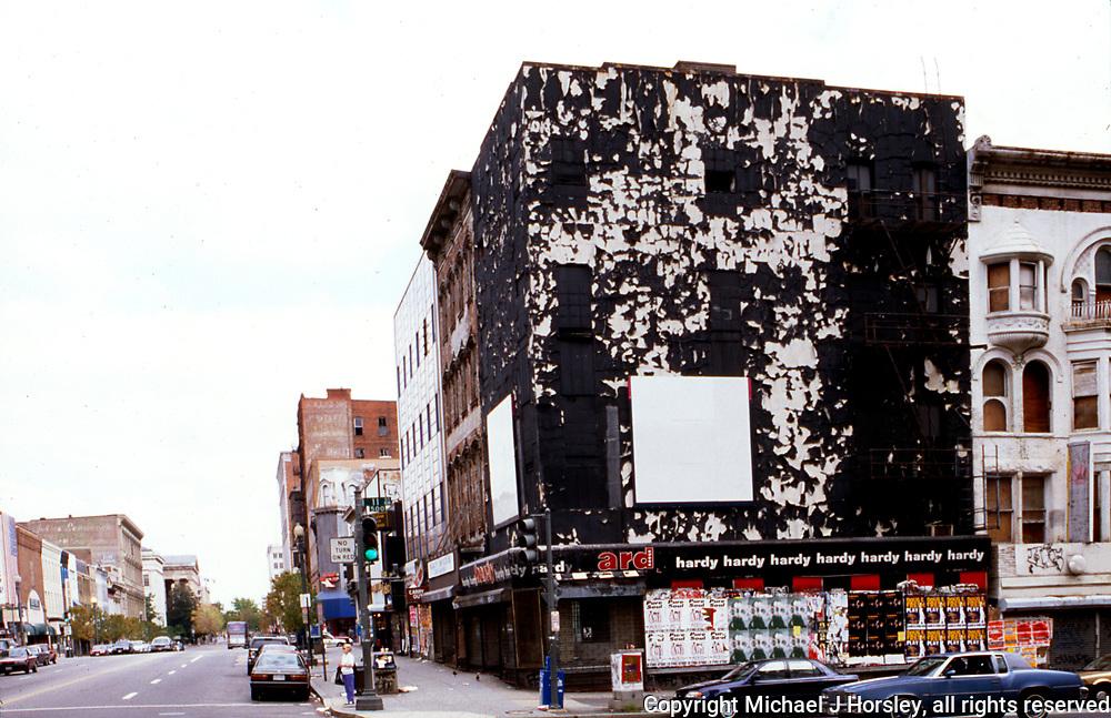 11th and F Street NW Washington DC, 1995<br /> Old Washington Downtown
