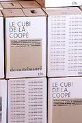 Bag in Box Bib cubitainer, Le Cubi de la Cooper, 10 litres. Embres et Castelmaure Cave Cooperative co-operative. Les Corbieres. Languedoc. The wine shop and tasting room. France. Europe.