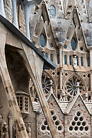 The Sagrada Familia, designed by Antoni Gaudi, nears completion after five generations of visitors enjoy the attraction in Barcelona, Spain.