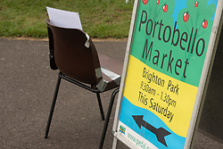 The monthly Portobello Market - no, not that one, the one that takes place on the first Saturday of every month in Brighton Park in Edinburgh's seaside suburb of Portobello - was busy with customers this morning. As always, customers at the many stalls were able to choose from a wide range of food and other products with both ready-to-eat takeway food and food supplies for the kitchen particularly popular. Portobello feels more and more like a village in the city. - typifying the 'Think Global Shop Local' philosophy. <br /> <br /> © Jon Davey/ EEm