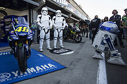 November 11, 2017 - Cheste, Spain - Star wards and Yamaha during qualifying session at Valencia Motogp  (Credit Image: © Gaetano Piazzolla/Pacific Press via ZUMA Wire)