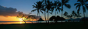 Sunrise, Kualoa Beach Park, Kaneohe Bay, Oahu, Hawaii<br />