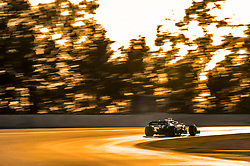 February 18, 2019 - Barcelona, Spain - The British driver, Lewis Hamilton of Mercedes-AMG Petronas Motorsport, testing the new car during the first day of Formula One Test at Catalonia Circuit, on February 18, 2019 in Barcelona, Spain. (Credit Image: © Joan Cros/NurPhoto via ZUMA Press)