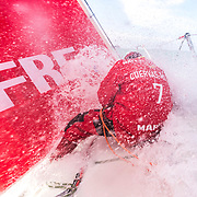 Leg 7 from Auckland to Itajai, day 01 on board MAPFRE. Start day. 18 March, 2018.