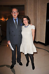 ALAN WHICKER and his wife VALERIE KLEEMAN at a party to celebrate the publiction of 'No Invitation Required' by Annabel Goldsmith, held at Claridge's, Brook Street, London on 11th November 2009.