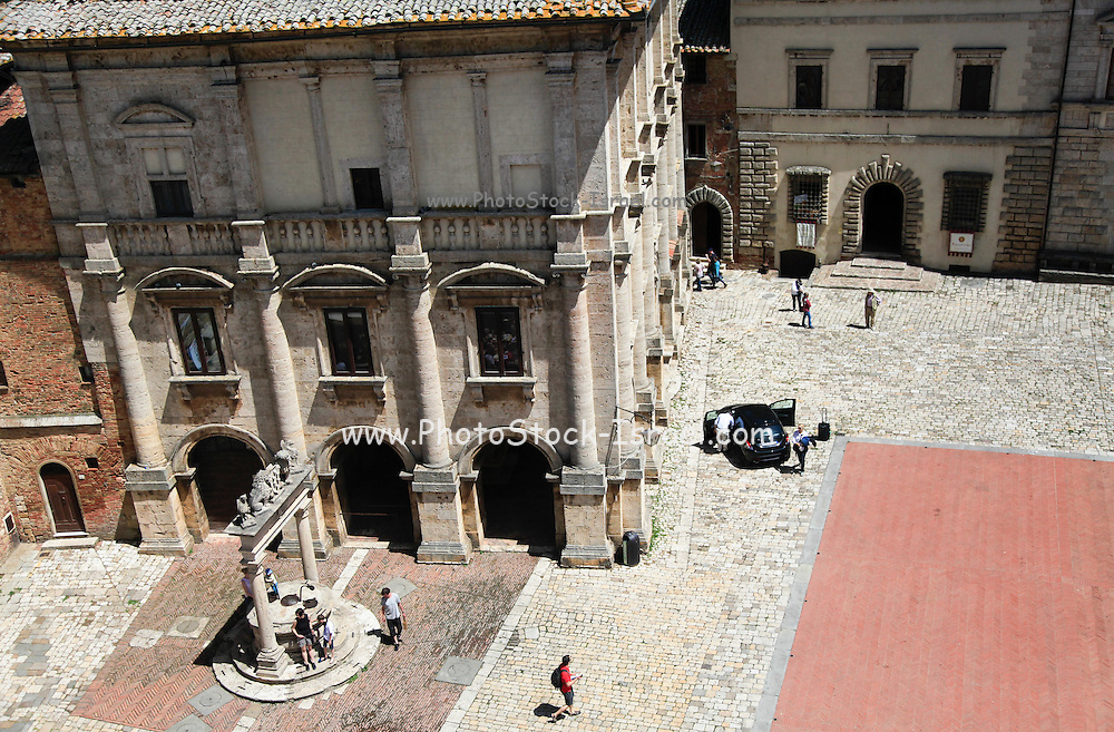 The 17th century Cathedral and 15th century Campanile of Santa Maria Assunta (The Duomo) Montepulciano, Tuscany, Italy