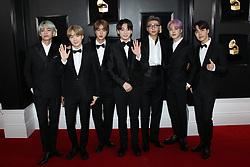 61st Annual Grammy Awards - Los Angeles. 10 Feb 2019 Pictured: BTS. Photo credit: Jaxon / MEGA TheMegaAgency.com +1 888 505 6342