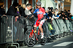 GOLČER Jure (SLO) of Adria Mobil at finish line during the UCI Class 1.2 professional race 4th Grand Prix Izola, on February 26, 2017 in Stunjan, Slovenia. Photo by Vid Ponikvar / Sportida