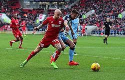 David Cotterill of Bristol City drives forward with the ball  - Mandatory by-line: Joe Meredith/JMP - 04/02/2017 - FOOTBALL - Ashton Gate - Bristol, England - Bristol City v Rotherham United - Sky Bet Championship
