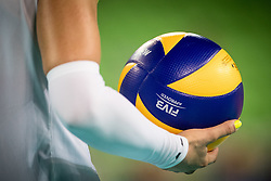 A ball during the volleyball match between National team of Slovenia and Dominican Republic in Preliminary Round of Womens U23 World Championship 2017, on September 11, 2017 in SRC Stozice, Ljubljana, Slovenia. Photo by Morgan Kristan / Sportida