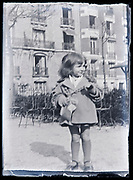 little girl in a park France circa 1920s