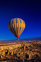 Hot air ballooning over Cappadocia, Kapadokya Balloons, Goreme, Turkey