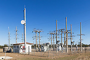 rural electricity high voltage power sub-station in Coominglah, Queensland, Australia <br /> <br /> Editions:- Open Edition Print / Stock Image