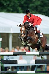 Geerink Peter (NED) - Heartbreaker<br /> WC Young Horses Lanaken 1996 <br /> Photo © Dirk Caremans