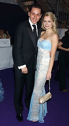 NICK GOLD and ANOUSKA DE GEORGIOU at The British Red Cross London Ball - H2O The Element of Life, held at The Room by The River, 99 Upper Ground, London SE1 on 17th November 2005.<br />