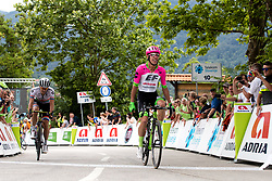 Rigoberto Uran of Team EF Education Cannondale and Daryl Impey of Mitchelton Scotta at Finish line during 3rd Stage of 25th Tour de Slovenie 2018 cycling race between Slovenske Konjice and Celje (175,7 km), on June 15, 2018 in  Slovenia. Photo by Matic Klansek Velej / Sportida
