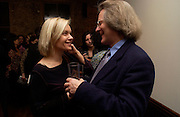 Mariella Frostrop and A.C. Grayling, Madness Visible by Janine di Giovanni, book launch,  Front Line club. 14 January 2004. © Copyright Photograph by Dafydd Jones 66 Stockwell Park Rd. London SW9 0DA Tel 020 7733 0108 www.dafjones.com