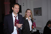 Peter Volwer and Inger Ugland. Skools Rool, fundraising event  for the Royal Academy Schools.  Burlington St. London. 14 March 2005. ONE TIME USE ONLY - DO NOT ARCHIVE  © Copyright Photograph by Dafydd Jones 66 Stockwell Park Rd. London SW9 0DA Tel 020 7733 0108 www.dafjones.com