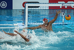 July 24, 2018 - Barcelona, Spain - Marco Del Lungo (Italia) during the match between Italy and Russia, corresponding to the women group stage of the European Water Polo Championship, on 19th July, 2018, in Barcelona, Spain. (Credit Image: © Joan Valls/NurPhoto via ZUMA Press)