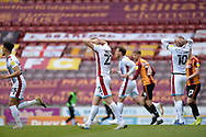 Scunthorpe United Alfie Beestin (22) looks frustrated, looks dejected during the EFL Sky Bet League 2 match between Bradford City and Scunthorpe United at the Utilita Energy Stadium, Bradford, England on 1 May 2021.