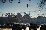 Traffic in Bucharest, Romania.