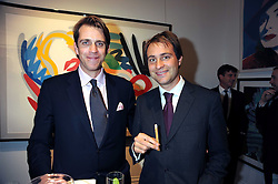 Left to right, BEN ELLIOT and BEN GOLDSMITH at the Spear's Wealth Management Awards held at Sotheby's, 34-35 New Bond Street, London on 29th September 2008.